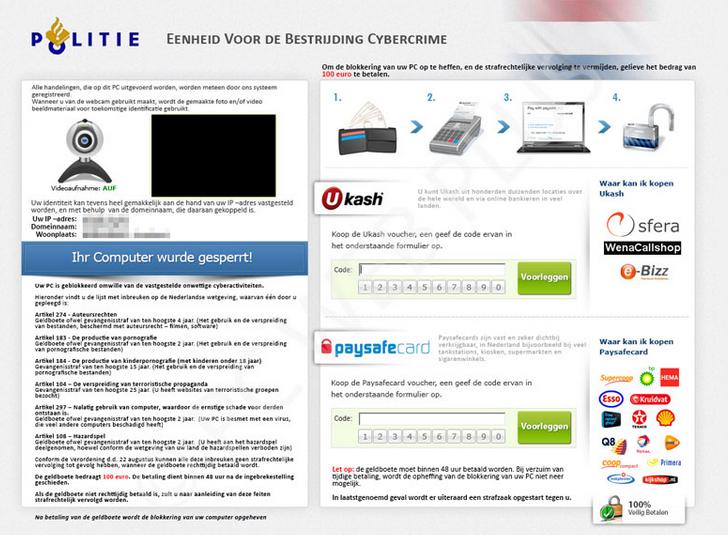 politievirus webcam afbeelding